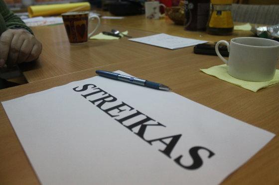 Tomo Markelevičiaus nuotr./Streikas Panevėžio mokyklose