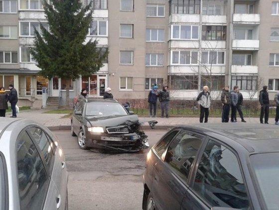 Vaidos Cesevičienės nuotr./Avarija Panevėžyje