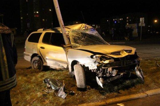 """Tomo Markelevičiaus nuotr./""""Renault Megane"""" avarija"""