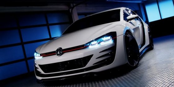 "SWNS.com nuotr./""Volkswagen Golf Design Vision GTI"""