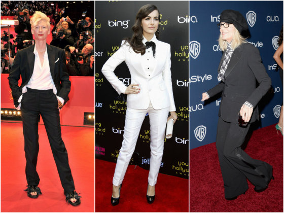 """Scanpix"" nuotr./Iš kairės: Tilda Swinton, Camilla Belle ir Diane Keaton."