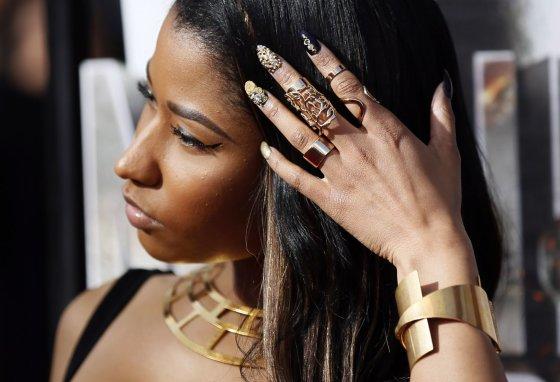 """Scanpix"" nuotr./Nicki Minaj manikiūras."