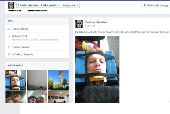 Facebook/E.Sodeika po avarijos