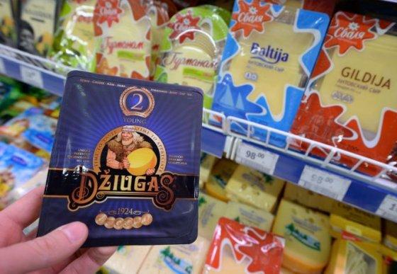 """""""Scanpix""""/""""RIA Novosti"""" nuotr./Lietuviški pieno produktai Rusijos parduotuvėje"""