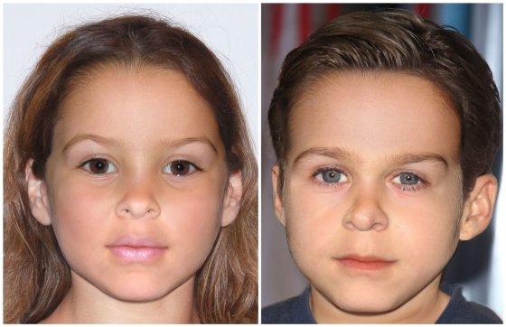AOP nuotr./Taip, anot menininko Joe Mullinso, turėtų atrodyti Evos Mendes ir Ryano Goslingo vaikai