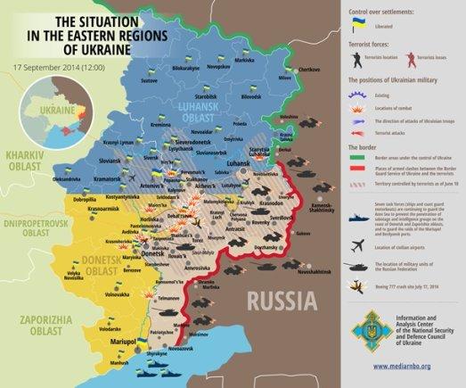 korrespondent.net nuotrauka/Situacija rytų Ukrainoje rugsėjo 17 d.