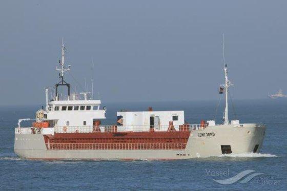 """Hannes van Rijn, Vessel finder iliustr./Laivas """"Cemfjord"""""""