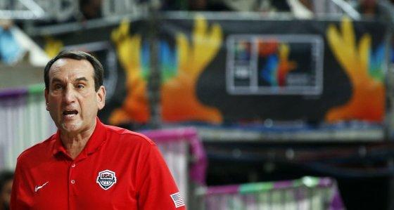 """""""Reuters""""/""""Scanpix"""" nuotr./JAV rinktinės treneris  Mike'as Krzyzewsky"""