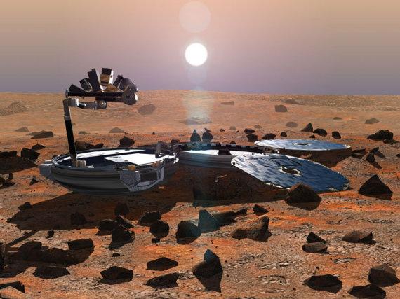 """Vikipedijos nuotr./Manoma, kad prieš 11 m. dingęs Marso zondas """"Beagle 2"""" galėjo būti atrastas"""
