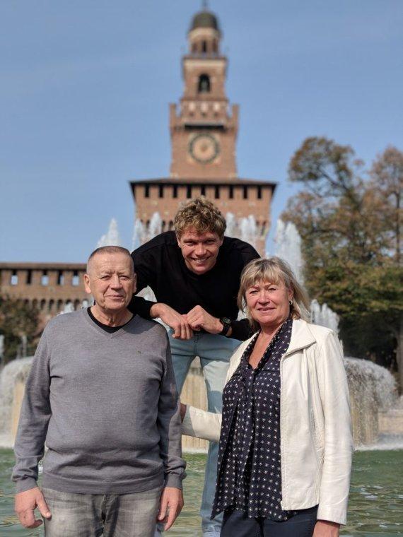 Mindaugas Kuzminskas su tėvais Zita ir Vladu