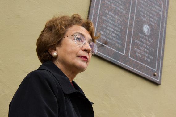 Aurimo Šrubėno nuotr./Faina Kukliansky, Lietuvos žydų bendruomenės pirmininkė