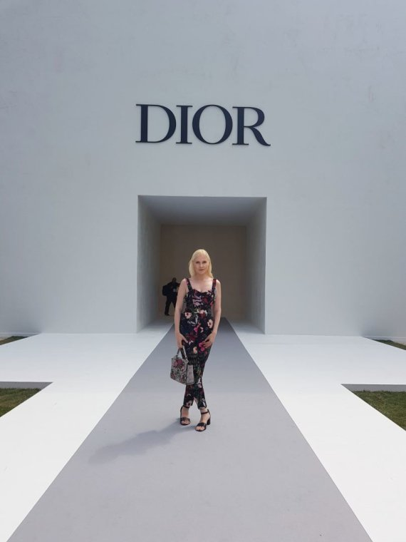 Photo of a private album / Mariah Lama's Christian Dior fashion show in Paris