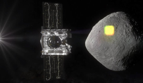 "NASA iliustr./Zondas ""OSIRIS-REx"" tirs asteroidą Bennu"