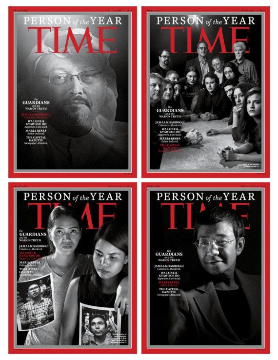 """AFP/""""Scanpix"""" nuotr./""""Time"""" Metų žmonėmis buvo išrinkti J.Khashoggi ir kiti žurnalistai"""