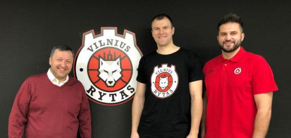 rytasvilnius.lt nuotr./Antanas Guoga, Artiomas Parachovskis ir Linas Kleiza