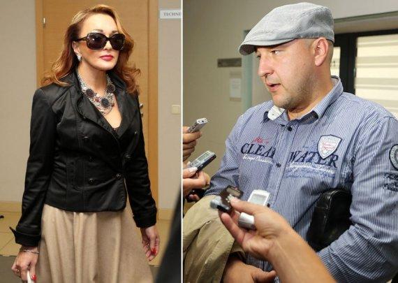Džordana Butkutė ir Sergejus Gorbonosas ankstesniame teismo posėdyje