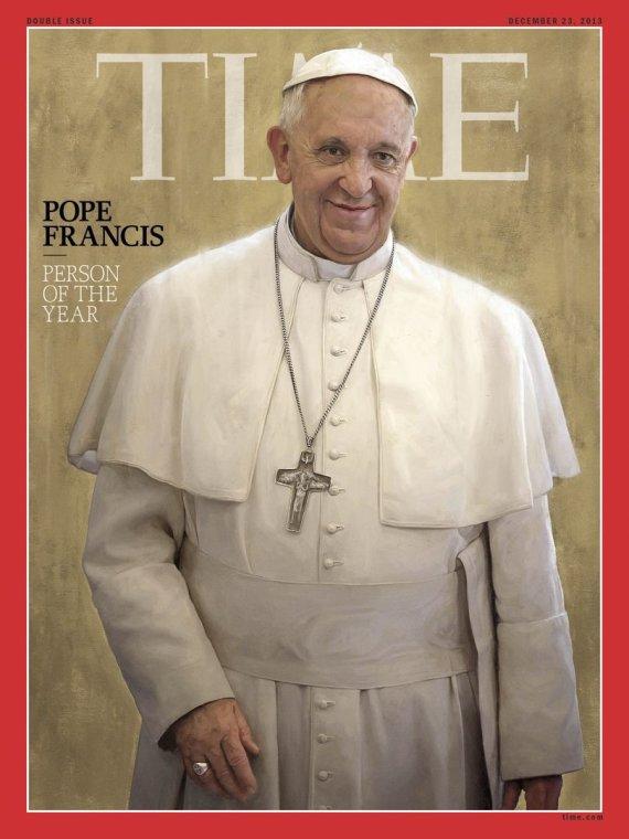 """Žurnalas """"Time"""" metų žmogumi paskelbė popiežių Pranciškų."""