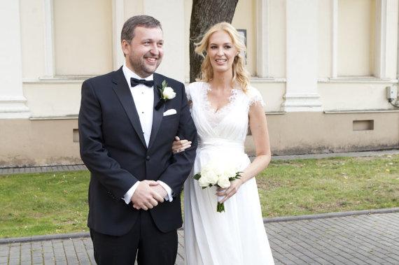 Mariaus Žičiaus/Žmonės.lt nuotr. /Antano ir Aistės Guogų vestuvių akimirka