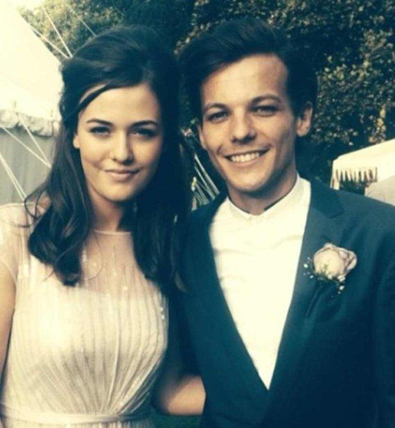 """""""Instagram"""" nuotr./""""One Direction"""" dainininkas Louisas Tomlinsonas ir jo sesuo Felicite Tomlinson"""