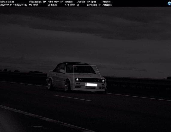 Kauno VPK nuotr./Užfiksuotas BMW vairuotojo pažeidimas