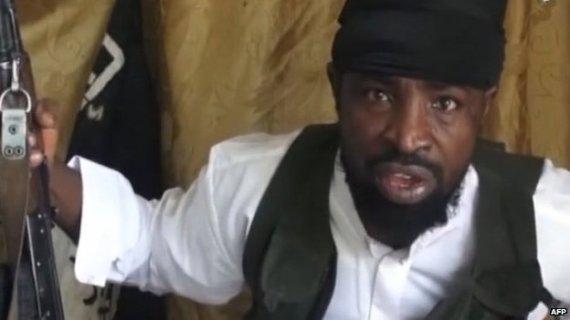"""Kadras iš filmuotos medžiagos/""""Boko Haram"""" lyderis Abubakaras Shekau"""