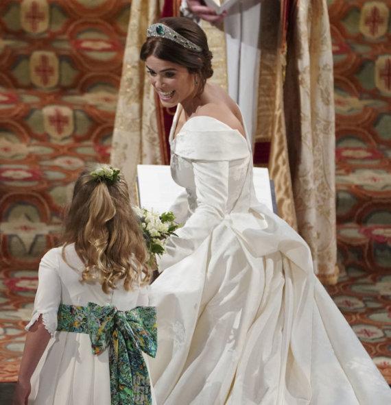 """Scanpix""/AP nuotr./Princesės Eugenie ir Jacko Brooskbanko vestuvės"