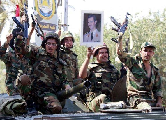 AFP/Scanpix nuotr./Sirijos kariai
