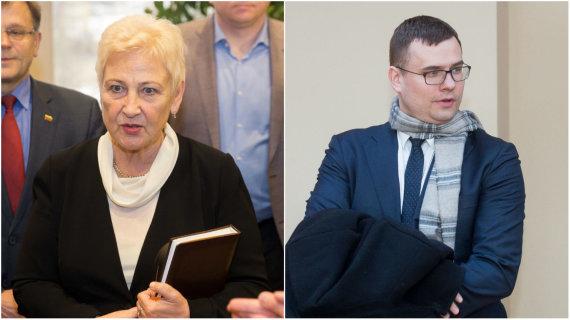 15min koliažas/Irena Degutienė ir Laurynas Kasčiūnas
