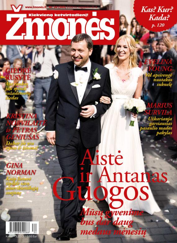 """Žurnalo """"Žmonės"""" viršelis/Antanas ir Aistė Guogos"""