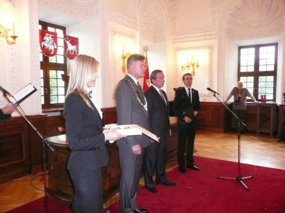 Kauno miesto savivaldybės nuotr./Sergejus Rolduginas Kauno rotušėje