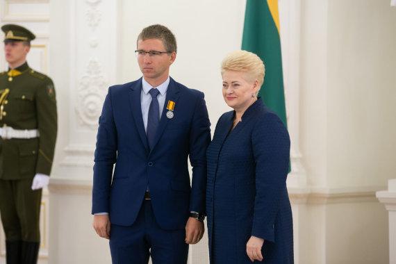 Žygimanto Gedvilos / 15min nuotr./Mykolas Masilionis ir Dalia Grybauskaitė