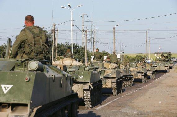 """""""Reuters""""/""""Scanpix"""" nuotr./Rusijos kariai šalia Ukrainos sienos"""