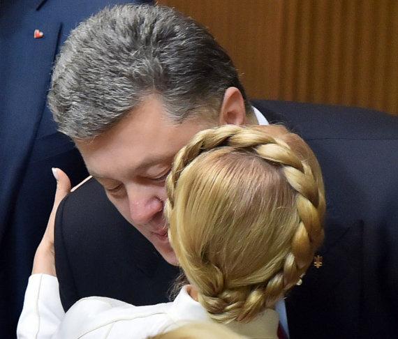 "AFP/""Scanpix"" nuotr./Petro Porošenka ir Julija Tymošenko"