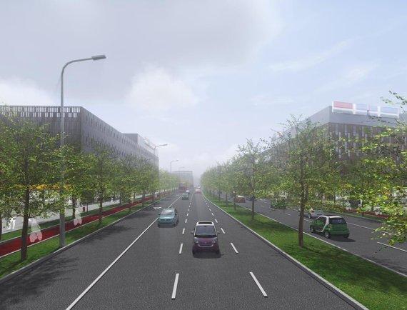 Šiaurinės gatvės vizualizacija