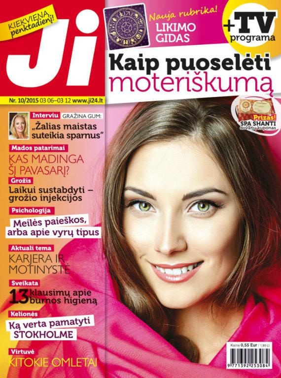 """Redakcijos archyvo nuotr./Žurnalo """"Ji"""" viršelis (10 nr.)"""