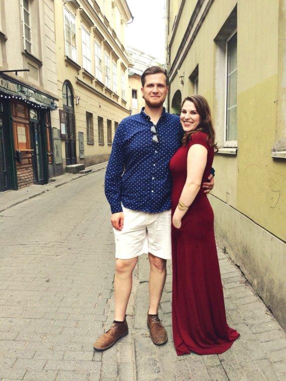 Asmeninė nuotr./Elena Landsbergytė-Bukauskienė ir Dovilas Bukauskas