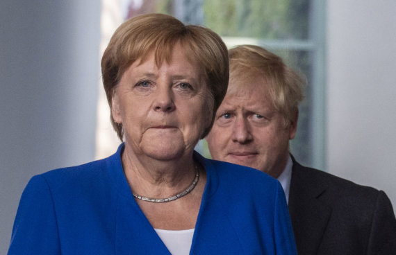 "AFP/""Scanpix"" nuotr./Angela Merkel ir Borisas Johnsonas"