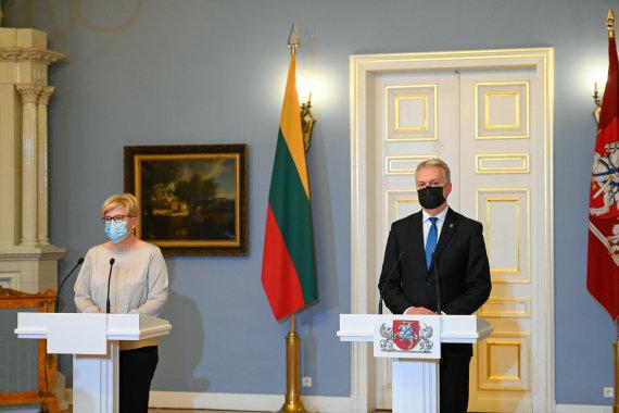 LR Prezidento kanceliarijos/R.Dačkaus nuotr./Ingrida Šimonytė ir Gitanas Nausėda