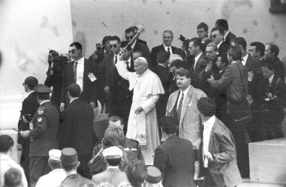 Alfredo Girdziušo nuotr./Popiežius Jonas Paulius II