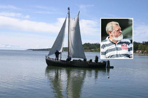 15min montažas / Jūrų muziejaus nuotr./Kuršių mariose nuskendęs laivas buvo istorinis kurėnas