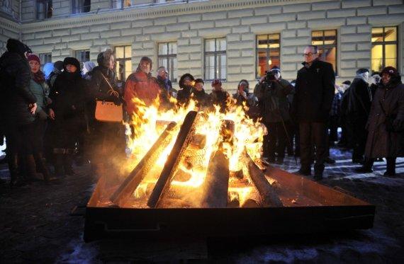 """""""Scanpix""""/AP nuotr./Sausio įvykių minėjimas Latvijoje"""