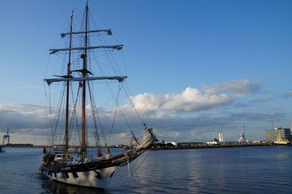 """KU nuotr./Burlaivis """"Brabander"""" nuo sekmadienio dalyvauja vienoje didžiausių regatų """"The Tall Ships Races""""."""