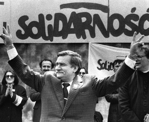 """Reuters""/""Scanpix"" nuotr./Solidarumo lyderis Lechas Walęsa"