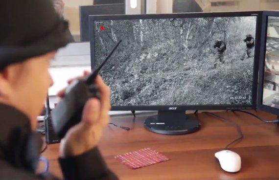 """""""YouTube"""" nuotr./Rusijos gynybos komplekso """"Radiobarrier"""" gaminamų seisminių daviklių reklama."""