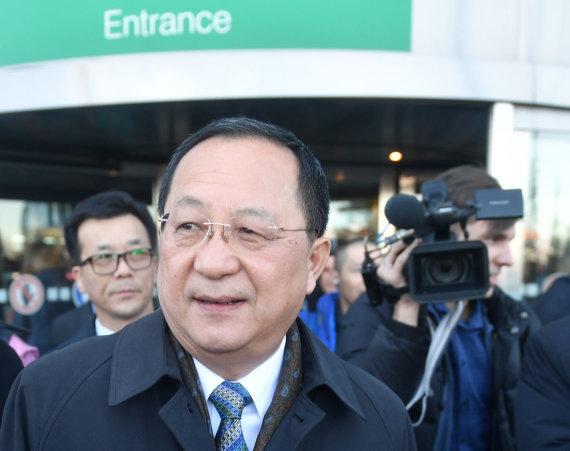"""""""Scanpix"""" nuotr./Šiaurės Korėjos užsienio reikalų ministras Ri Yong Ho atvyko į Maskvą"""