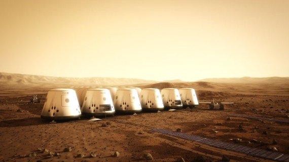 """""""Mars One Foundation"""" iliustr./Kaip galėtų atrodyti kolonija Marse"""
