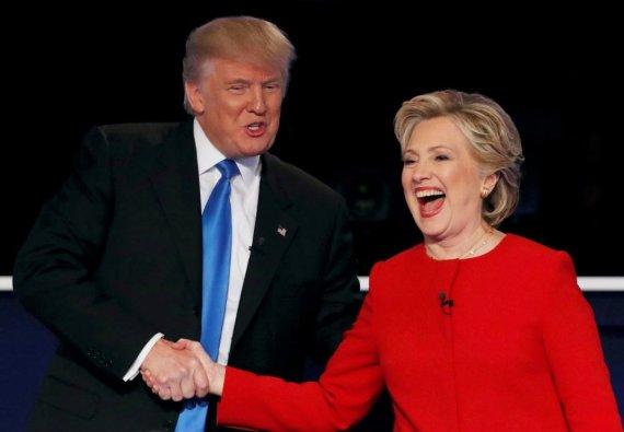 """""""Reuters""""/""""Scanpix"""" nuotr./Donaldas Trumpas ir Hillary Clinton"""