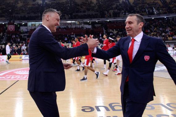 Getty Images/Euroleague.net nuotr./Davidas Blattas ir Šarūnas Jasikevičius