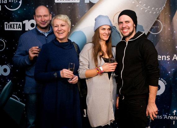 Gretos Skaraitienės/Žmonės.lt nuotr./Neringa Čereškevičienė su vyru Alfredu, Jurga Šeduikytė ir Vidas Bareikis