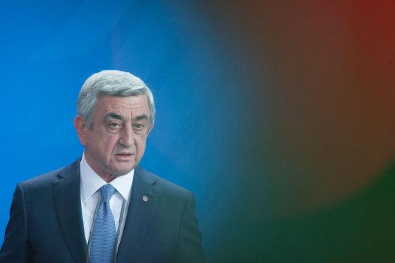 "AFP/""Scanpix"" nuotr./Seržas Sargsianas"